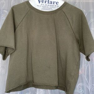 Green Cropped Sweater Top